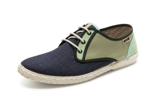 "Sneakers ""Sisto Combi"" Navy-Green"