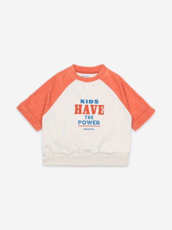 Kids Have The Power Short Sleeve Sweatshirt