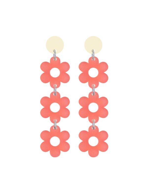 Aretes FLOWER POWER ROSA